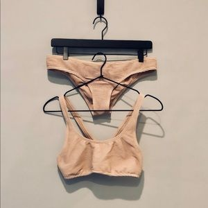 Peachy Pink Bikini Set